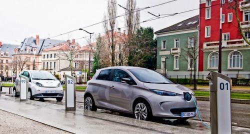 borne de recharge pour la voiture électrique