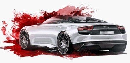 Audi E-Tron Concept Back