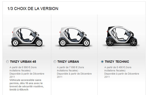 reservation renault twizy