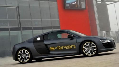La voiture électrique Audi R8 e-tron