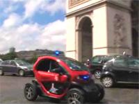 Twizy : la voiture électrique des pompiers de Paris