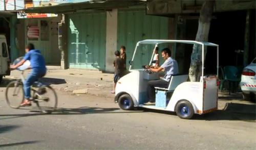 La première voiture électrique de Gaza - palestine