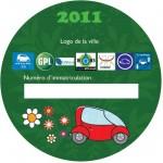 Disque de stationnement pour les voitures électriques