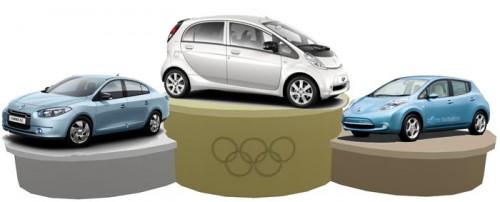 Renault Fluence, Nissan Leaf et Peugeot iOn