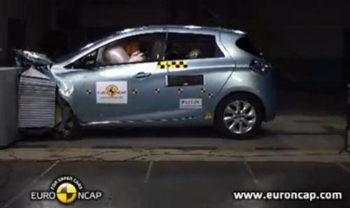 Le crash-test euroNCAP de la ZOE ZE