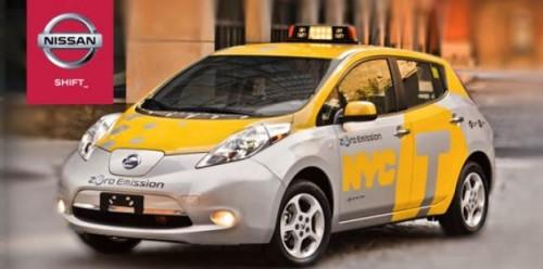 Taxi Nissan Leaf NY