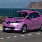 Renault ZOE ZE couleur rose