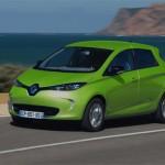Renault ZOE ZE couleur vert pâle