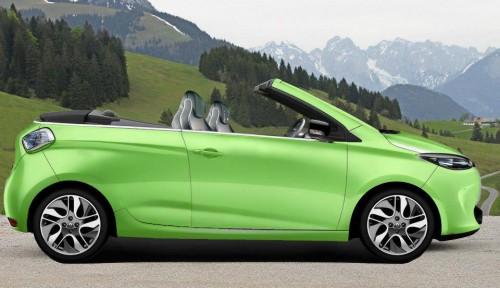 Le Zoé cabriolet couleur vert pomme