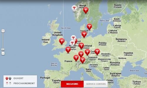 Liste des Store Tesla en Europe