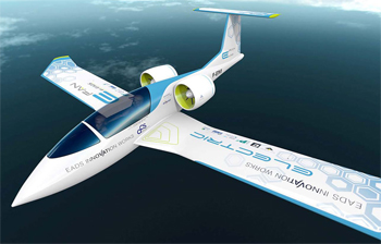 L'efan de EADS est un avion avec deux moteurs électriques