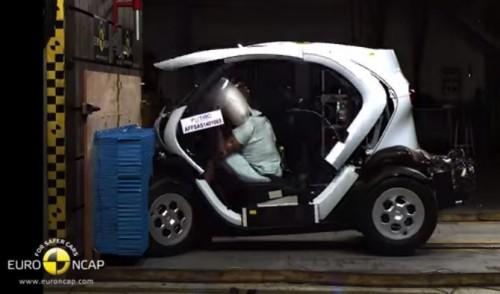 Crash-test EuroNCPA de la Renault Twizy ZE