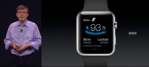L'appli BMW i sur Apple Watch