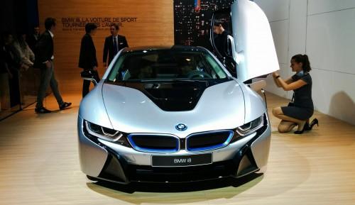 La BMW i8 sur le stand BMW au Mondial