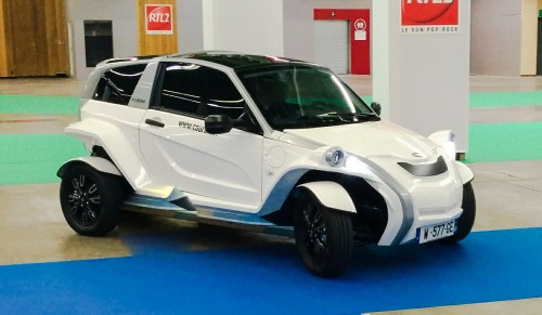 la C-Zen Courb sur la piste d'essai des voitures électriques du Mondial