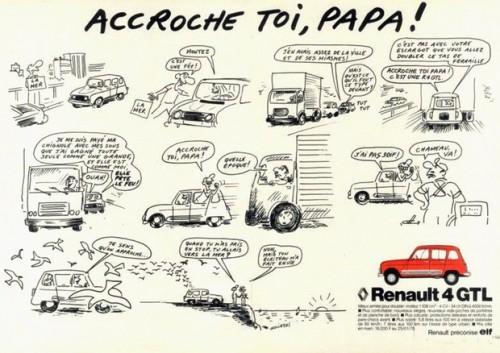 Pubicité de Wolinski pour la Renault 4