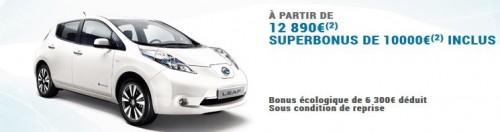 Le prix d'achat des voitures électriques avec le superbonus de 10000 euros